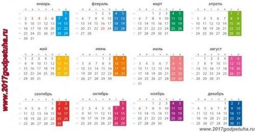 Навчальний календар 2017 року для вчителя і школи