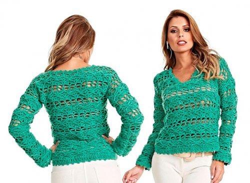 В\язання модних жіночих светрів 2017 року