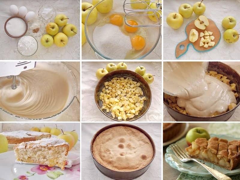 яблочный пирог рецепт пошаговая инструкция-хв10