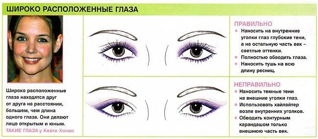 Как сделать внешние уголки глаз
