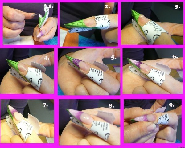 Нарастить ногти акрилом на формах