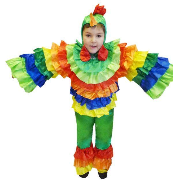 Как сделать костюм попугая своими руками видео