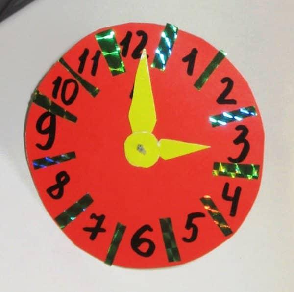 Как сделать так чтобы у бумажных часов крутились стрелки