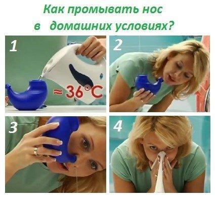 Как сделать промывание носа водой