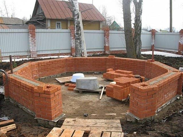 Садовые дома из кирпича своими руками 94