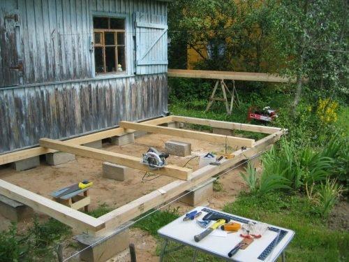 Строим летнюю кухню своими руками из досок 61