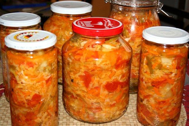 салат с капустой и рисом на зиму рецепты