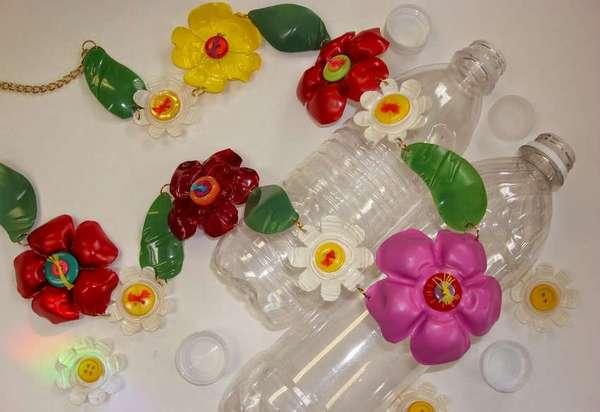 Цветки из пластиковых бутылок своими руками в детском саду 84