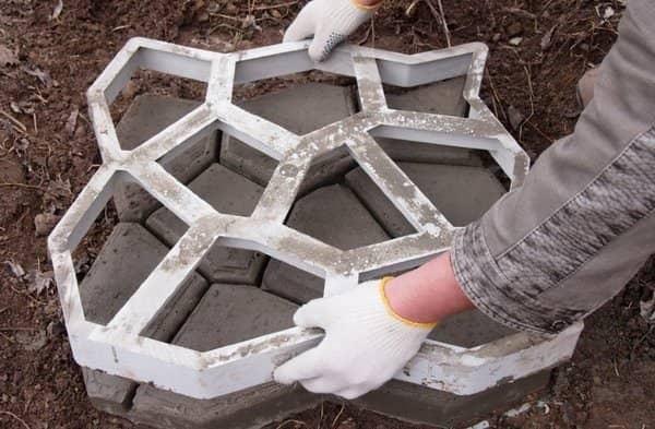 Трафарет для изготовления тротуарной плитки своими руками 94
