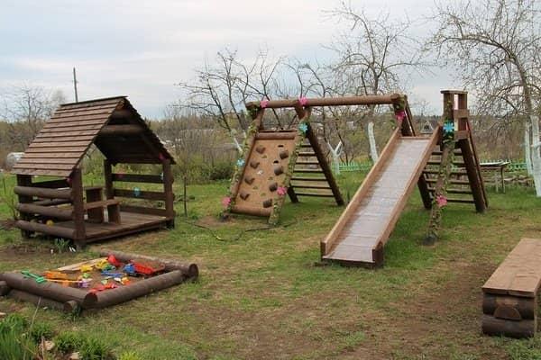 Детские площадки из дерева своими руками фото схемы 485