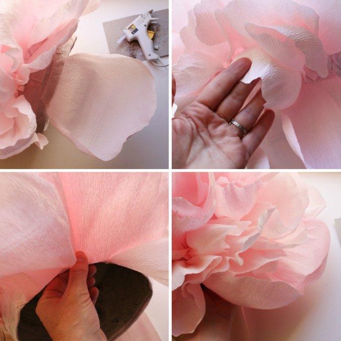 Как сделать большой пион из бумаги своими руками 505
