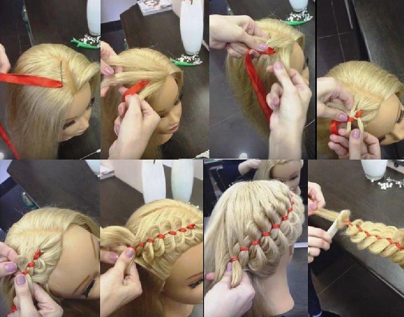 плетение кос картинки по шагам торт